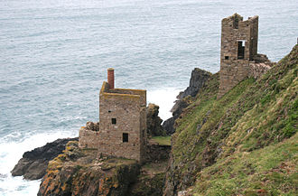 Botallack Mine - Engine houses at Crown Mines