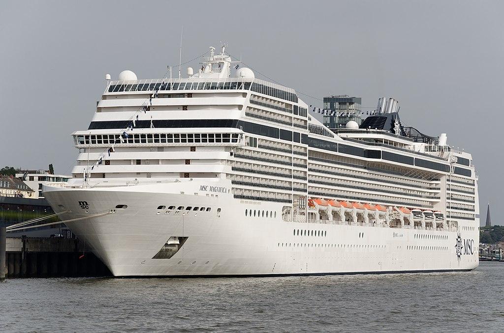 Cruise ship MSC Magnifica IMO9387085 Hamburg Germany.jpg