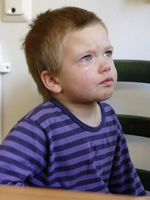 'Crying boy' by Miika Silfverberg (MiikaS) from Vantaa, Finland (Flickr) [CC-BY-SA-2.0 (www.creativecommons.org/licenses/by-sa/2.0)], via Wikimedia Commons