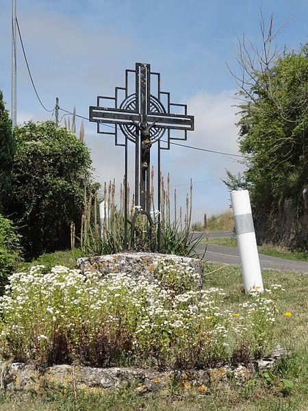 Cuissy-et-Geny (Aisne) croix de chemin
