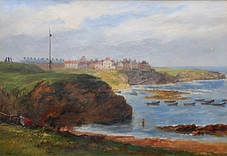 Cullercoats - Cullercoats from the South by John Wilson Carmichael, 1845