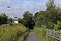 Cycle route NCN5 at Hawarden Bridge railway station (geograph 4032484).jpg