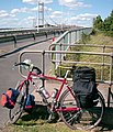 Cycling The Humber Bridge - geograph.org.uk - 1671750.jpg