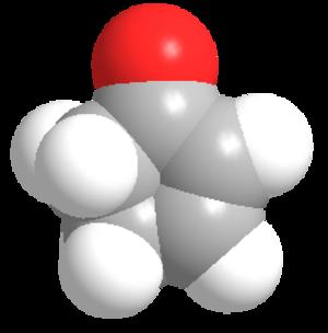 Cyclopentenone - Image: Cyclopentenone 3d