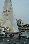 Dériveurs 18 pieds australiens au Salon Nautique International à Flot de La Rochelle 1987 (10).jpg