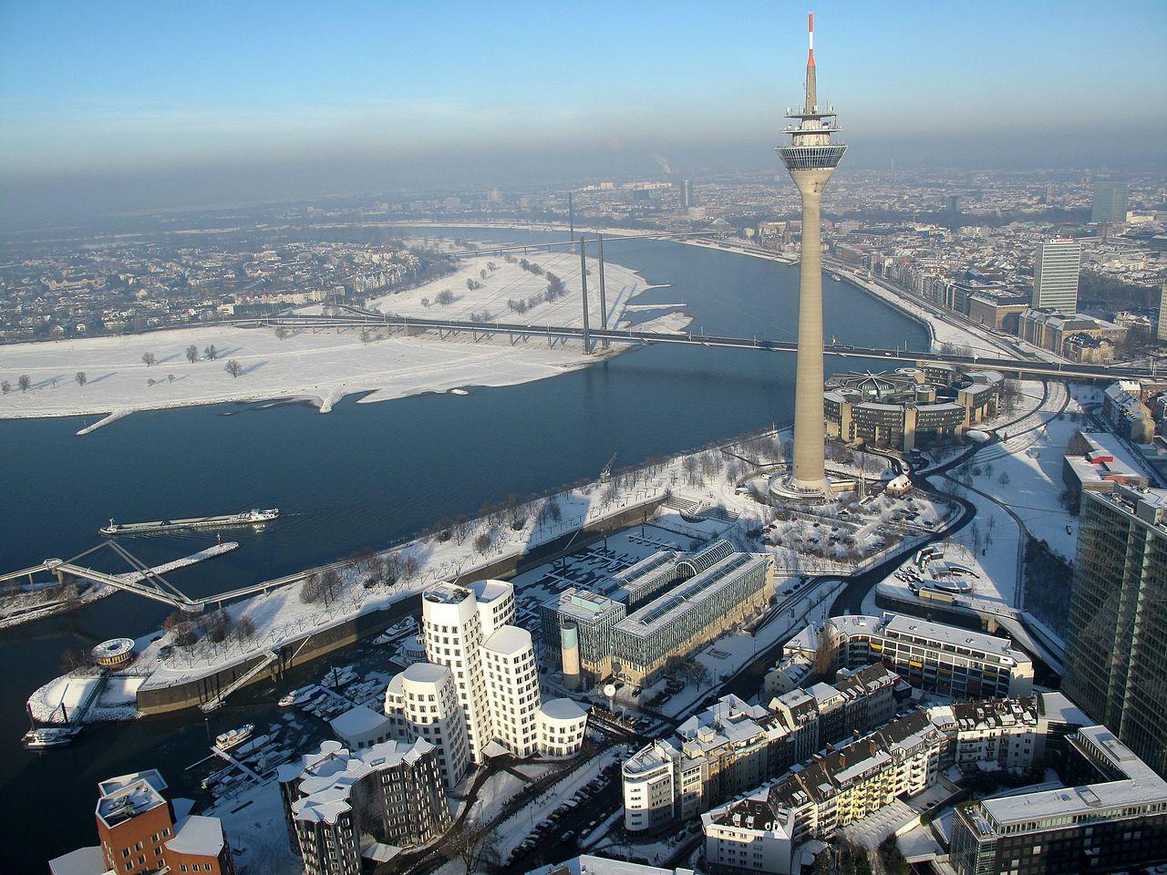 The Düsseldorf Skyline with tower