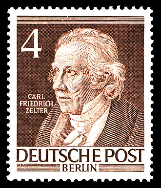 Carl Friedrich Zelter - Postage stamp (1952) from the series Men from Berlin's Past