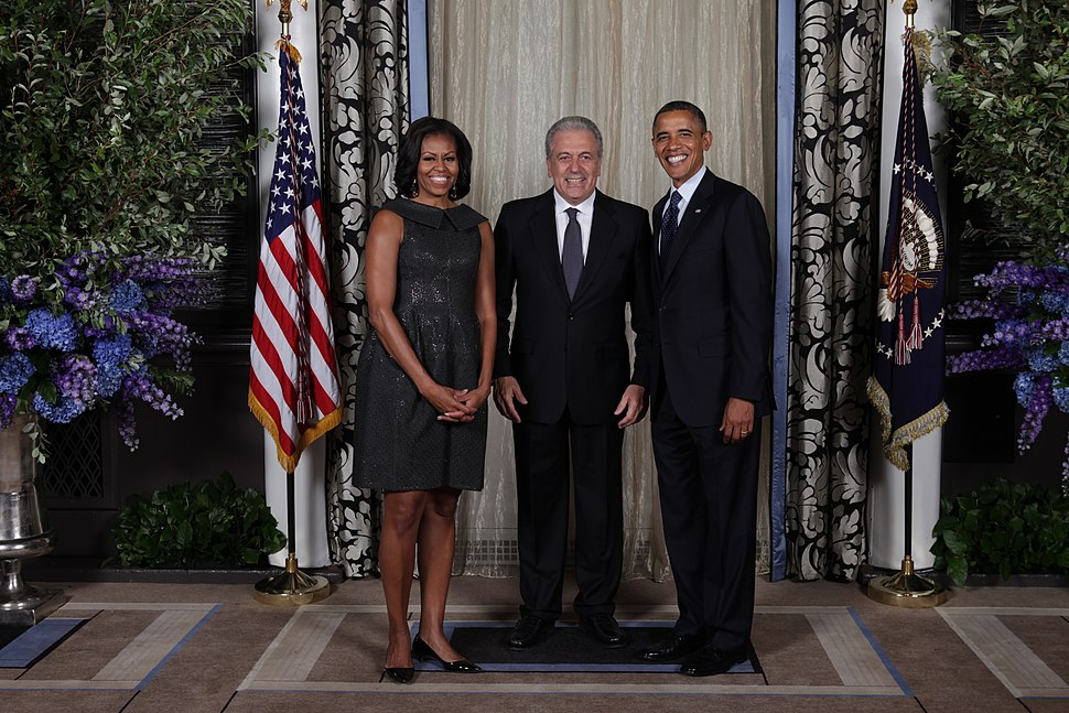 D Avramopoulos with Barack & Michelle Obama