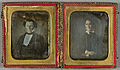 Daguerreotype. Two portraits, man and woman..jpg