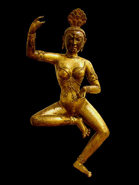 Dakini danzante, XVIII secolo, Tibet. Museo Guimet, Parigi