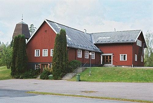 Flygfoto ver Sundbo yrkesskola, Sundbo. Tagen - Europeana