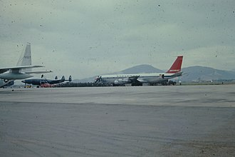 Da Nang Air Base - Northwest Airlines Boeing 707 at Da Nang AB in September 1966