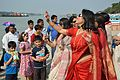 Dancing Devotees - Durga Idol Immersion Ceremony - Baja Kadamtala Ghat - Kolkata 2012-10-24 1357.JPG