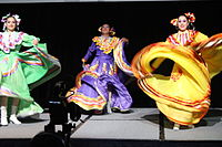 Dancing at the Wikimania 2015 Opening Ceremony IMG 7600.JPG
