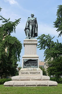 Daniel Webster Memorial artwork by Gaetano Trentanove