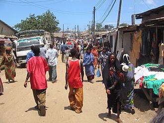 Buguruni - A shopping street in Buguruni during the day time.