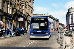Dart Buses - A Leyland Lynx of Dart Buses in Paisley a month before the company's closure
