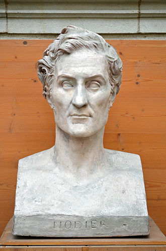 Charles Nodier - Bust of Charles Nodier by David d'Angers (1845).