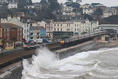 Dawlish - CrossCountry 43303 at high tide.JPG