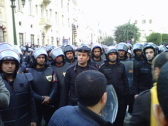 Central Security Forces - Paramilitary riot police of the Central Security Forces deployed during the 25 January 2011 protests.