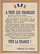 De Gaulle - à tous les Français