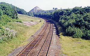 Dearham Bridge railway station - Site of the station in 1991