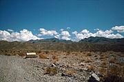 Desert, radiator water tank near Grapevine