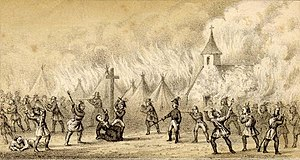 Military history of Canada - Death of Father Sebastian Rale of the Society of Jesus at the Battle of Norridgewock, 1724