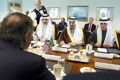 Defense.gov News Photo 120411-D-BW835-034 - Secretary of Defense Leon E. Panetta meets with Saudi Arabian Minister of Defense Prince Salman bin Abd al-Aziz Al Saud in the Pentagon on April.jpg