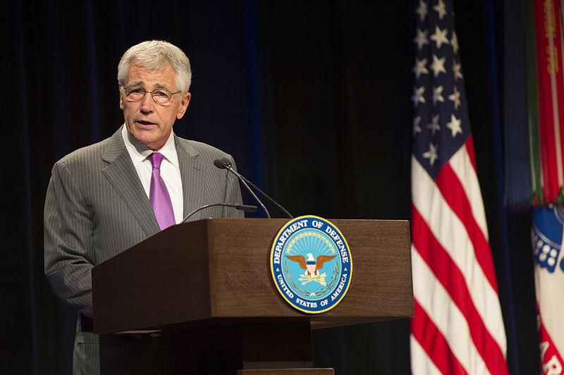 File defense secretary chuck hagel speaks at the defense department s