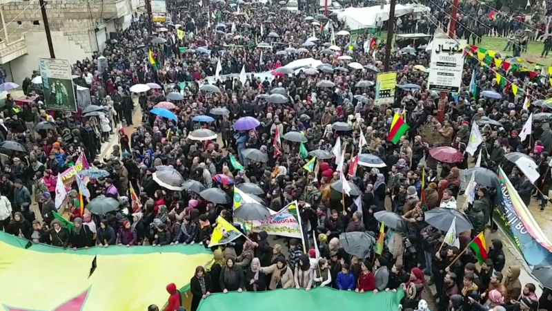 File:Demonstration in Afrin against Turkish military operation.png