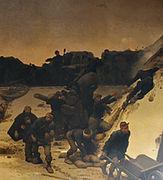 tableau représentant le colonel Denfert-Rochereau défendant Belfort pendant le siège de Belfort de 1870-1871.