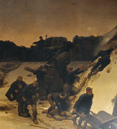 tableau représentant le colonel Denfert-Rochereau défendant Belfort pendant le siège de Belfort de 1870-1871