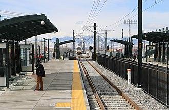 Peoria station - The R-line platforms at Peoria Station.