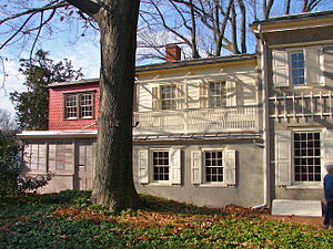Germantown White House - The rear of the house shows the earliest construction.