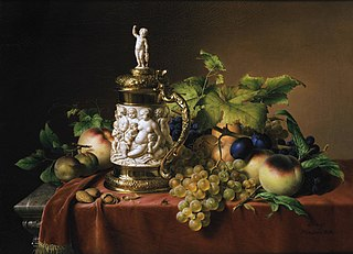 Still-life of fruits and ivory tankard