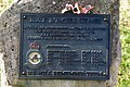 Detail of plaque on the memorial to a crashed RAF bomber in Broadway Tower Country Park - geograph.org.uk - 747547.jpg