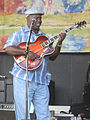 Detroit Brooks playing Heritage archtop guitar (clip) - Mid-City Bayou Boogaloo 2009.jpg
