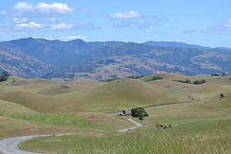 Diablo Range - Diablo Range including Mount Hamilton (right)