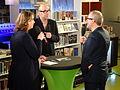 Diana de Groot interviewt Chabot en Giphart tijdens BoekenFEST 2016 in Assen.jpg