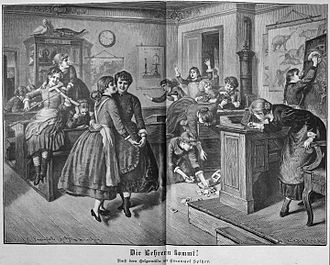 Single-sex education - German school girls, 1888, by Emanuel Spitzer