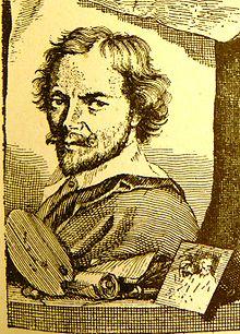 """Dirk van Hoogstraten in vol.1 of Houbraken's """"Schouburg"""", 1718."""