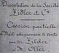 Dissolution de la société Zidler. Cession du Moulin Rouge à Oller. 9 septembre 1892.jpg