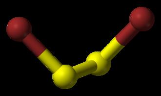 Disulfur dibromide - Image: Disulfur dibromide 3D balls