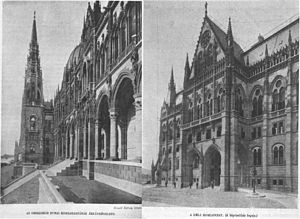 Hungarian Parliament Building - Parliament Building in 1905
