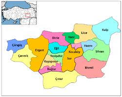 Diyarbakır'ın idari bölümleri