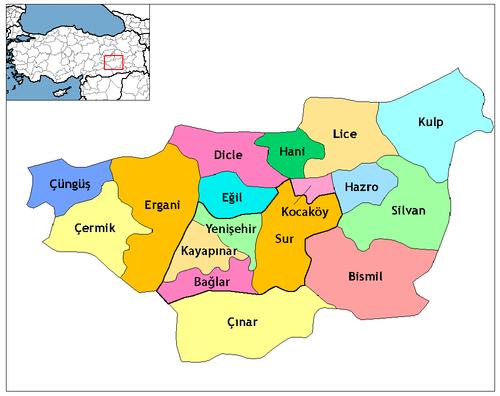 Diyarbakır'ın ilçeleri