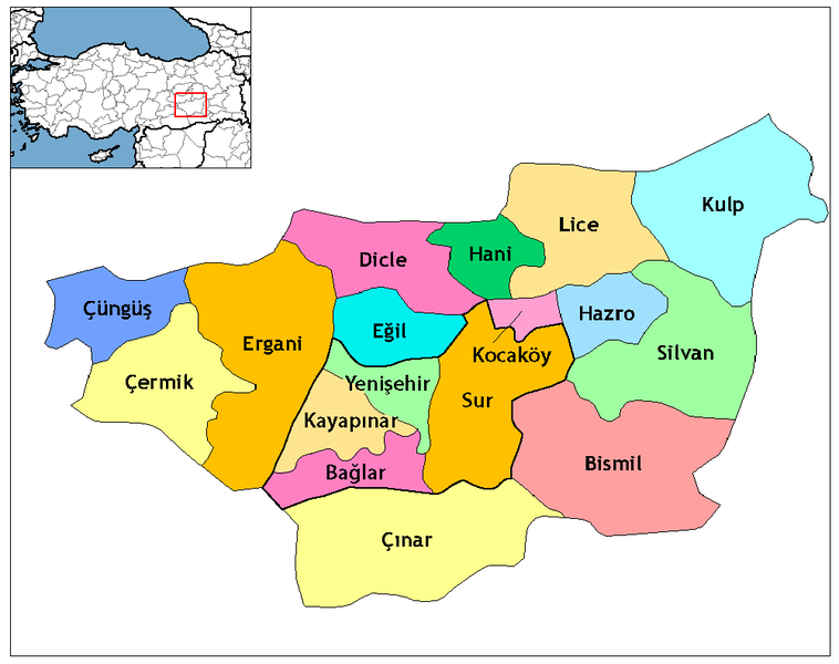 Fichier:Diyarbakır districts.png