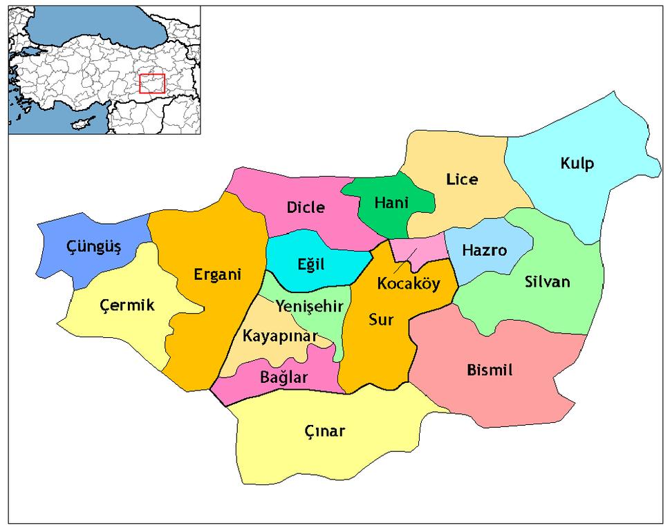 Diyarbakır districts
