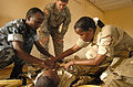 Djibouti U.S. Army Africa Soldiers offer first responder course 090806 (3820495316).jpg
